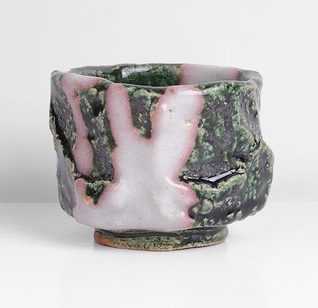 Kouchi Hidetoshi, Oribe Guinomi Stoneware. Photo: Maak