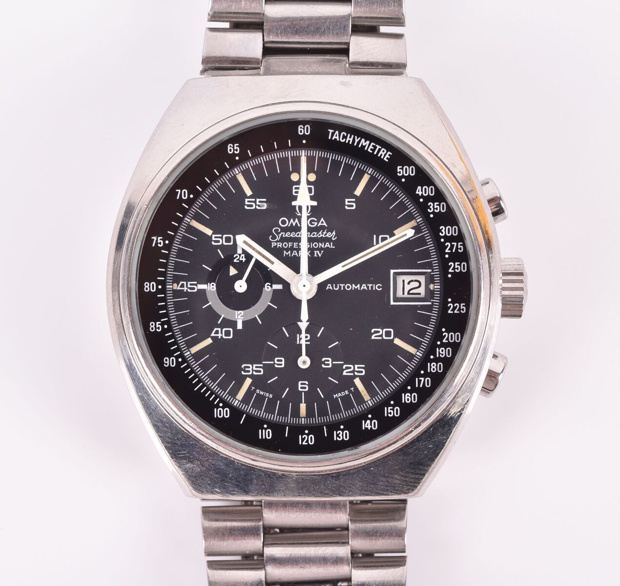 Lot 595: An Omega Speedmaster Professional Mark IV stainless steel automatic wristwatch
