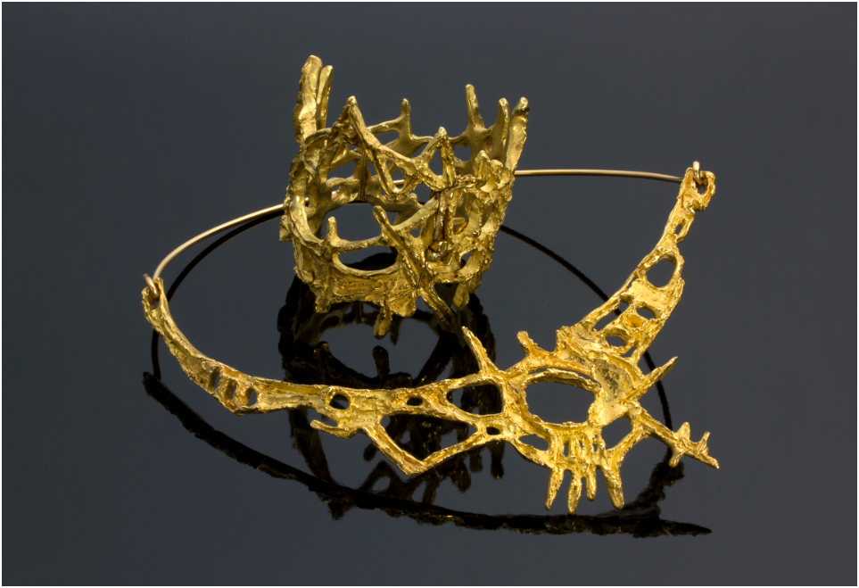 GUIDO LA REGINA - Demi parure (necklace and bracelet) of yellow gold in abstract-informal style, Italy 1968 Estimate: 8 000-12 000 EUR