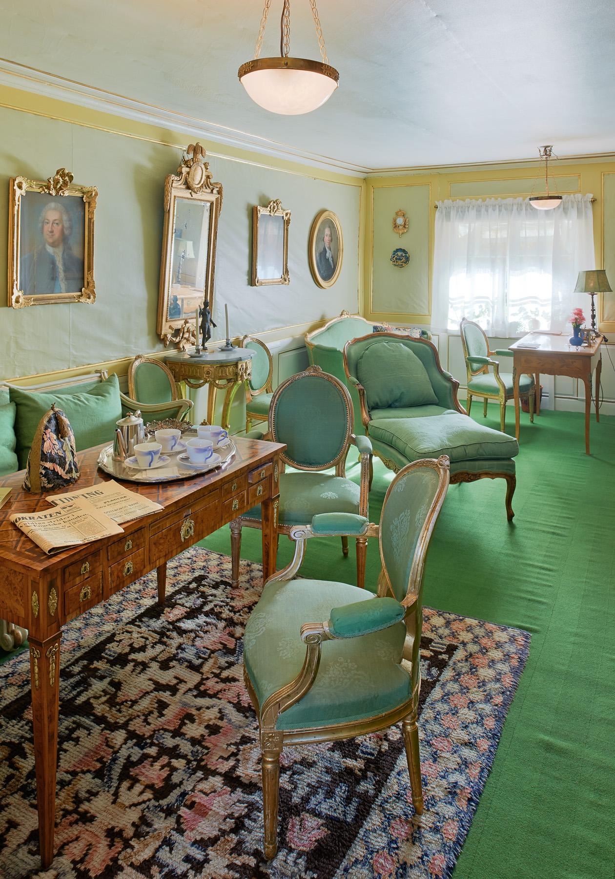 Det gröna rummet på Zorngården. Foto Åke E:son Lindman