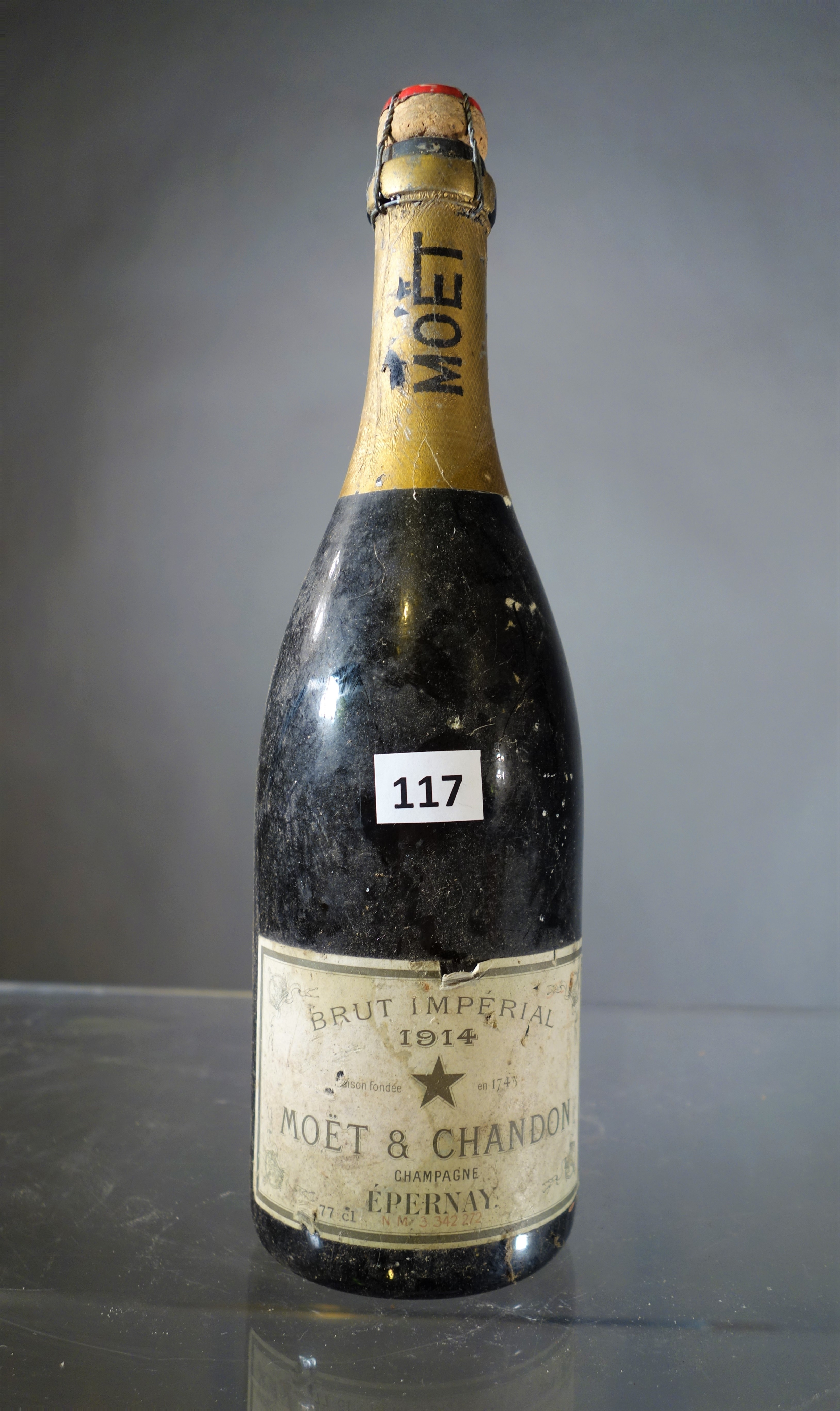 1 Flasche Champagner Moët & Chandon Brut impérial 1914