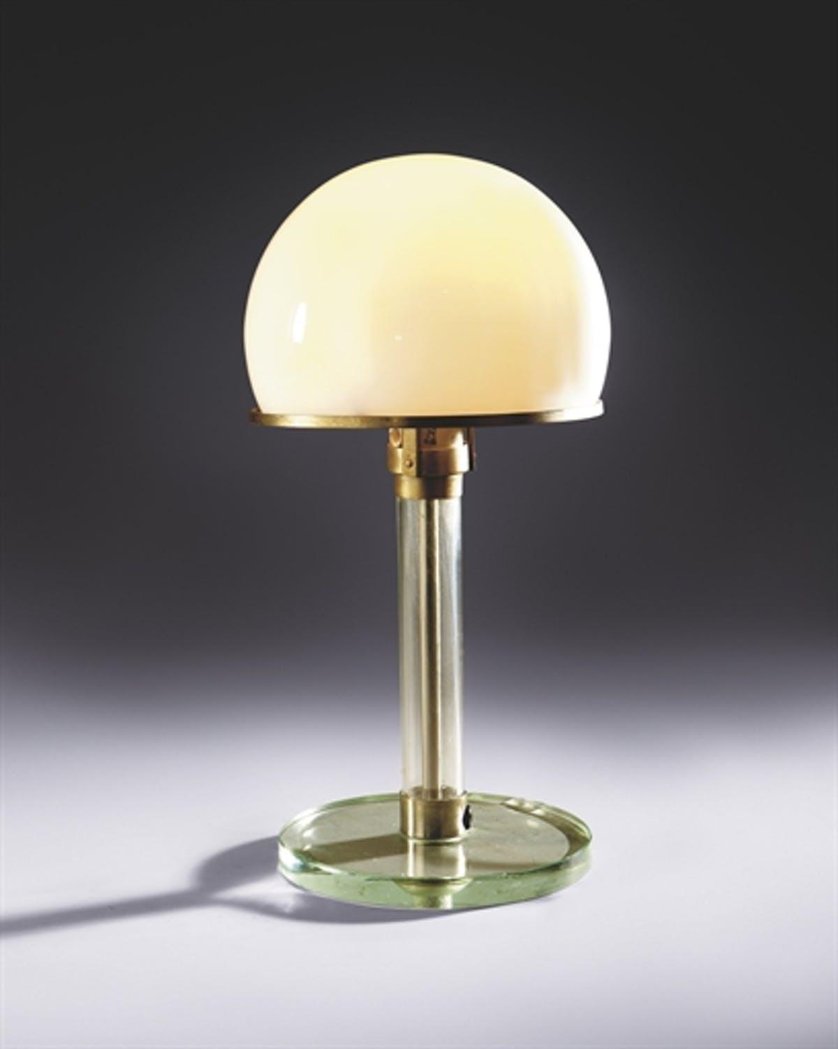 Wagenfeld-lampan, från 1924. Bild Christie's
