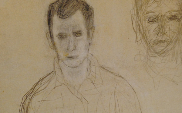 Jack Kerouac, Weird, Self-Portrait at Sea from Departed Angels: The Lost Paintings