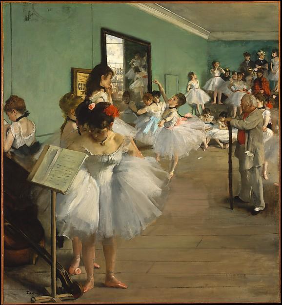 Edgar Degas, Dansklassen, 1874. Källa: The Metropolitan Museum of Art