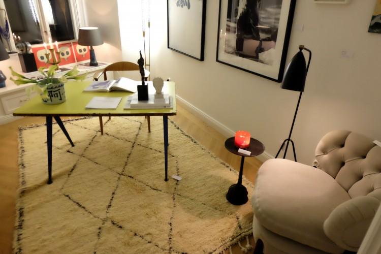 Arbetsrummet med bland annat Prouvé, Grossman och Schulz i fokus.