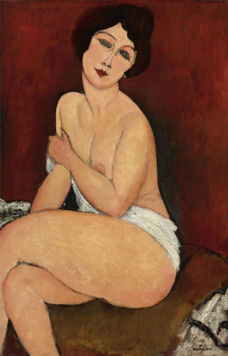 Amadeo Modigliani, 'Nu assis sur un divan (La Belle Romaine)'. Bild: Sotheby's