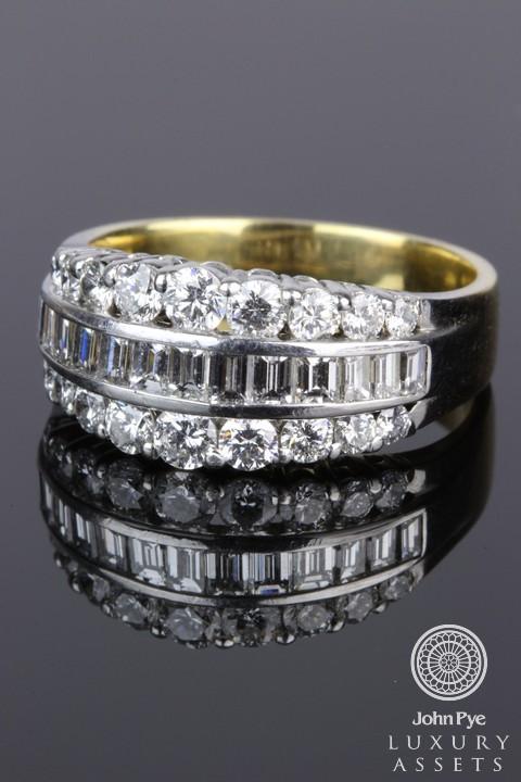 18CT gold diamond set ring. Photo: John Pye.