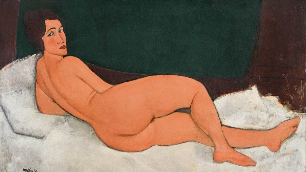 Amedeo Modigliani, Nu Couché (sur le côté gauche), 1917   Foto: Sotheby's