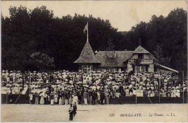 Carte postale Houlgate, partie de tennis Clément Maréchal