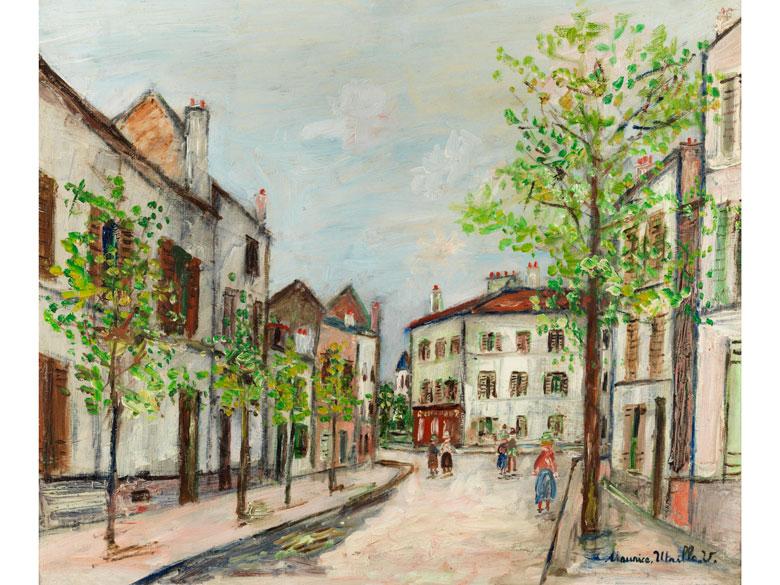 MAURICE UTRILLO (1883 Paris – 1955 Dax) - Poissy (Seine et Oise), Öl/Holz, signiert, um 1950