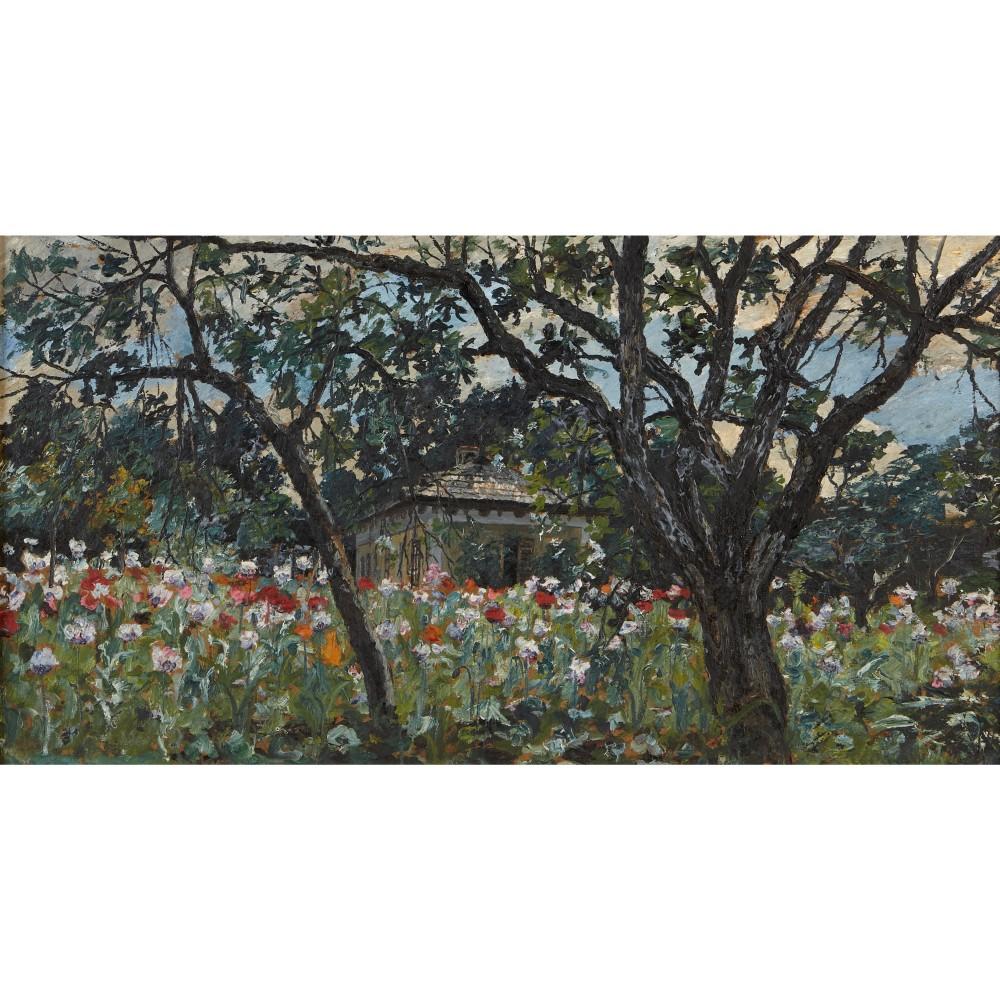 Blomsteräng, målning