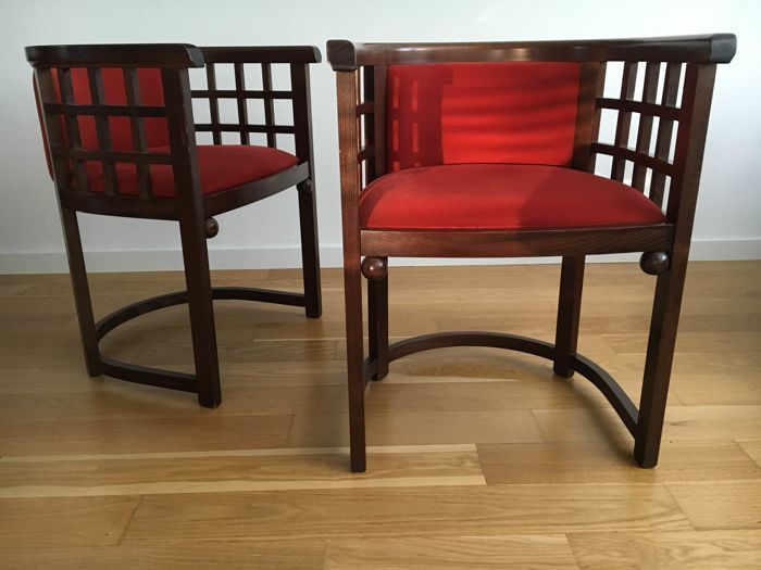 Josef Hoffman / PSM Italy, Pair of Chairs, 1990. Photo: Catawiki
