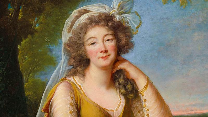 Élisabeth-Louise Vigée Le Brun (1755 Paris 1842), Portrait der Madame du Barry (1743-1793), 1789 | Foto: Christie's (Detail)