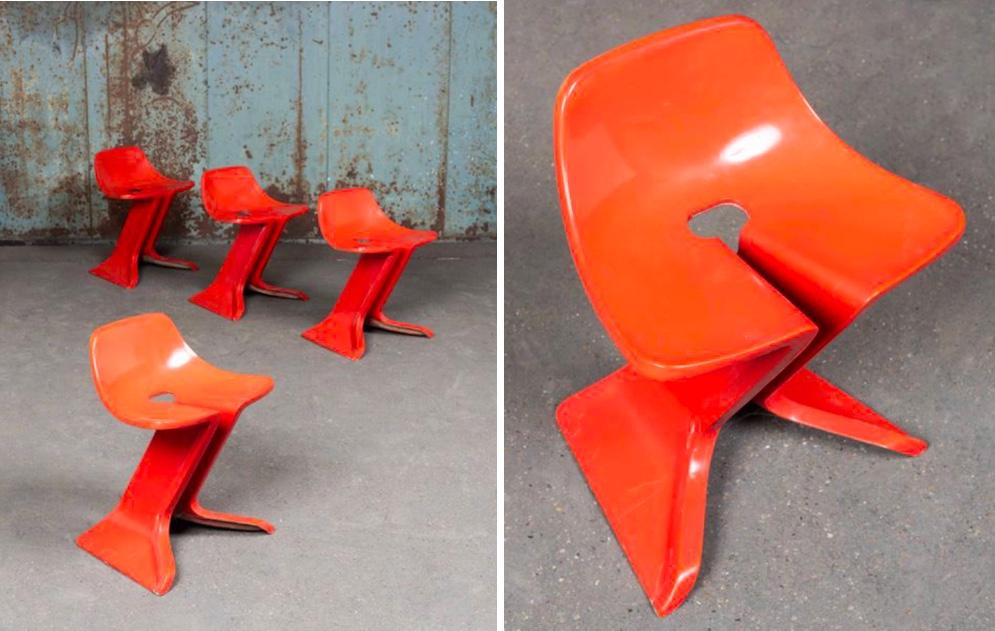 PIERRE COULEU (*1948) - 4 Stühle, 1980, Fiberglas