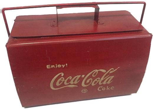Glacière Vintage Coca-Cola, années 1960-70