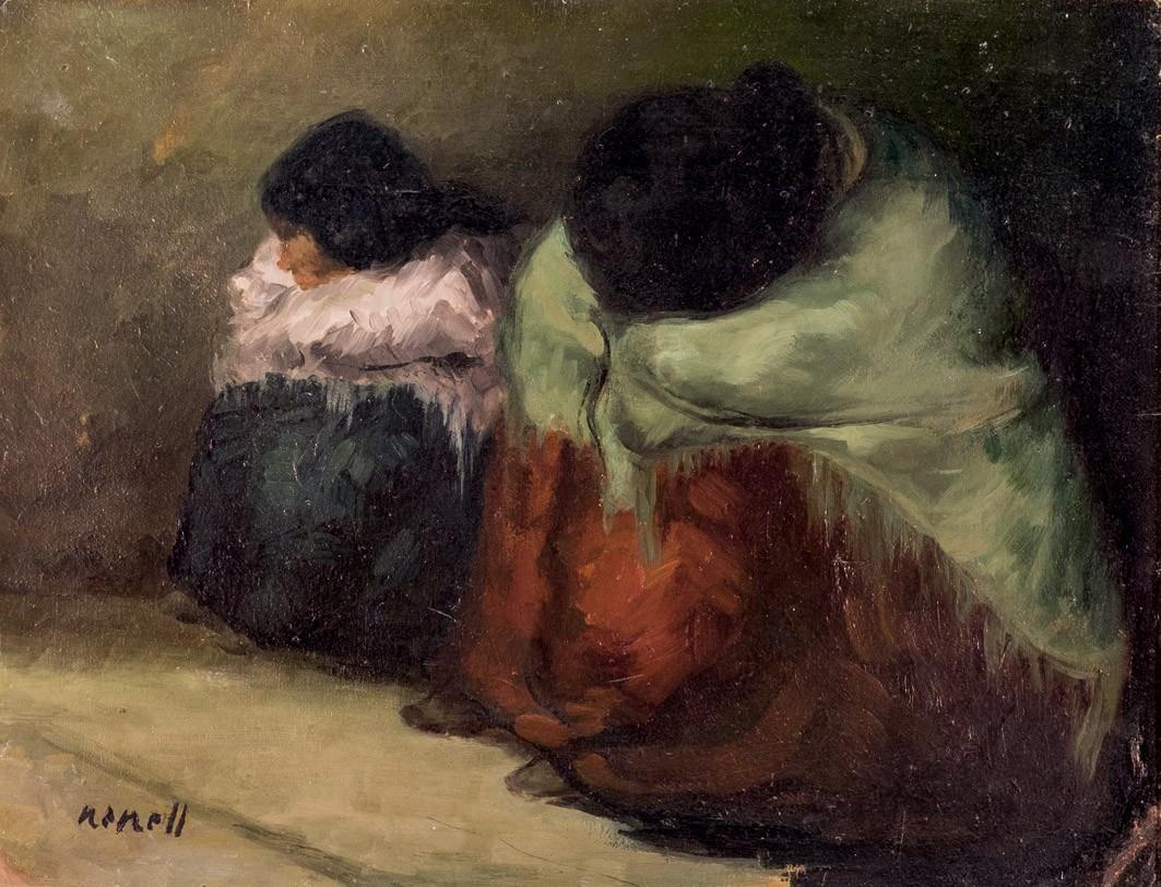 ISIDRO NONELL (1872 Barcelona 1911) - Gitanas, Öl/Karton, signiert, um 1903