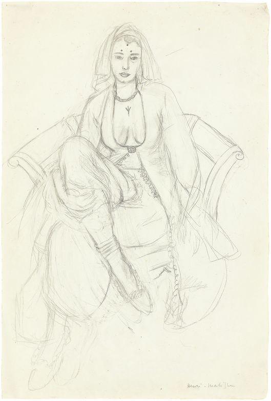 "Henri Matisse, ""La Persane"", 1929, matita su carta, foto: Grisebach"
