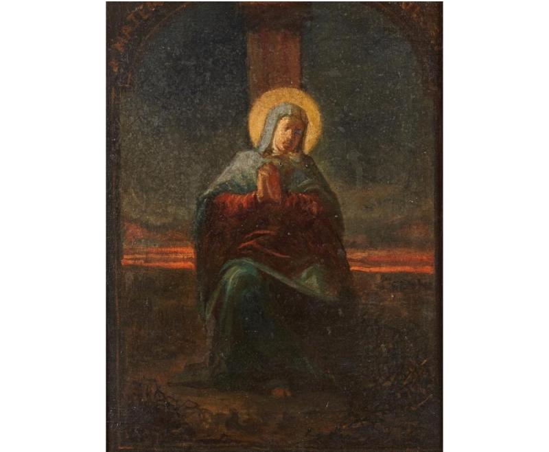 "ESCUELA ESPAÑOLA. ""Virgen"" (S. XIX)"