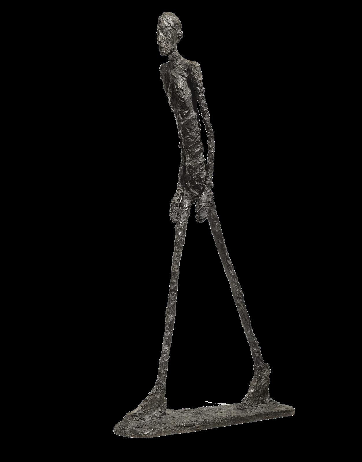 « L'Homme qui marche I », Alberto Giacometti, image via Pinterest
