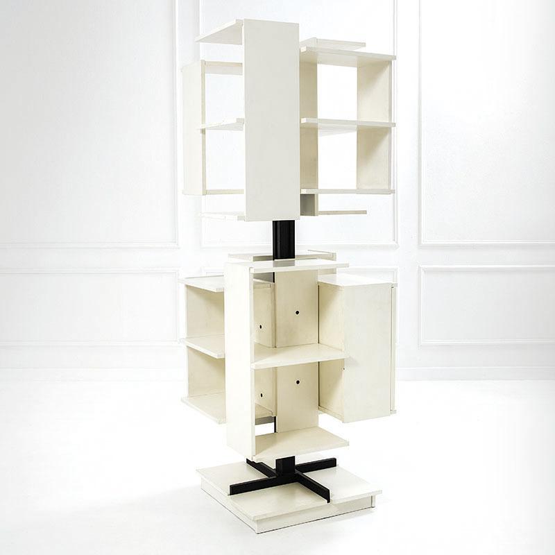 Claudio Salocchi, bibliothèque tournant mod. Centro, Prod. Sormani, ca. 1960, estimation : 6 000 - 8 000 euros