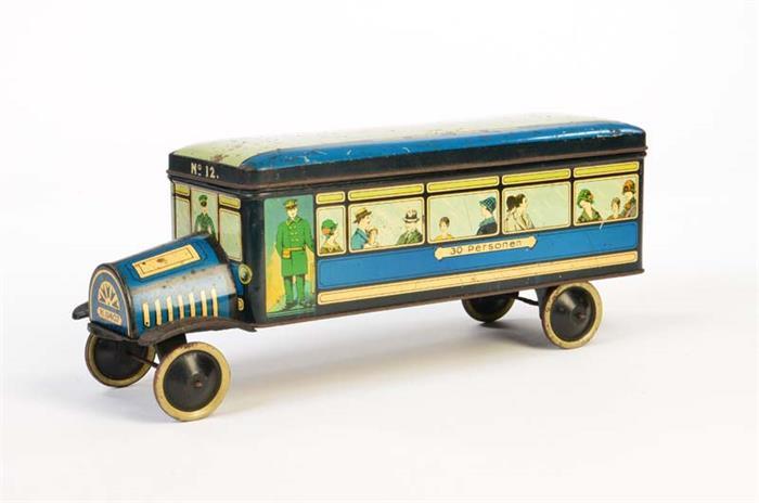 Sehr seltener Bus als Keksdose