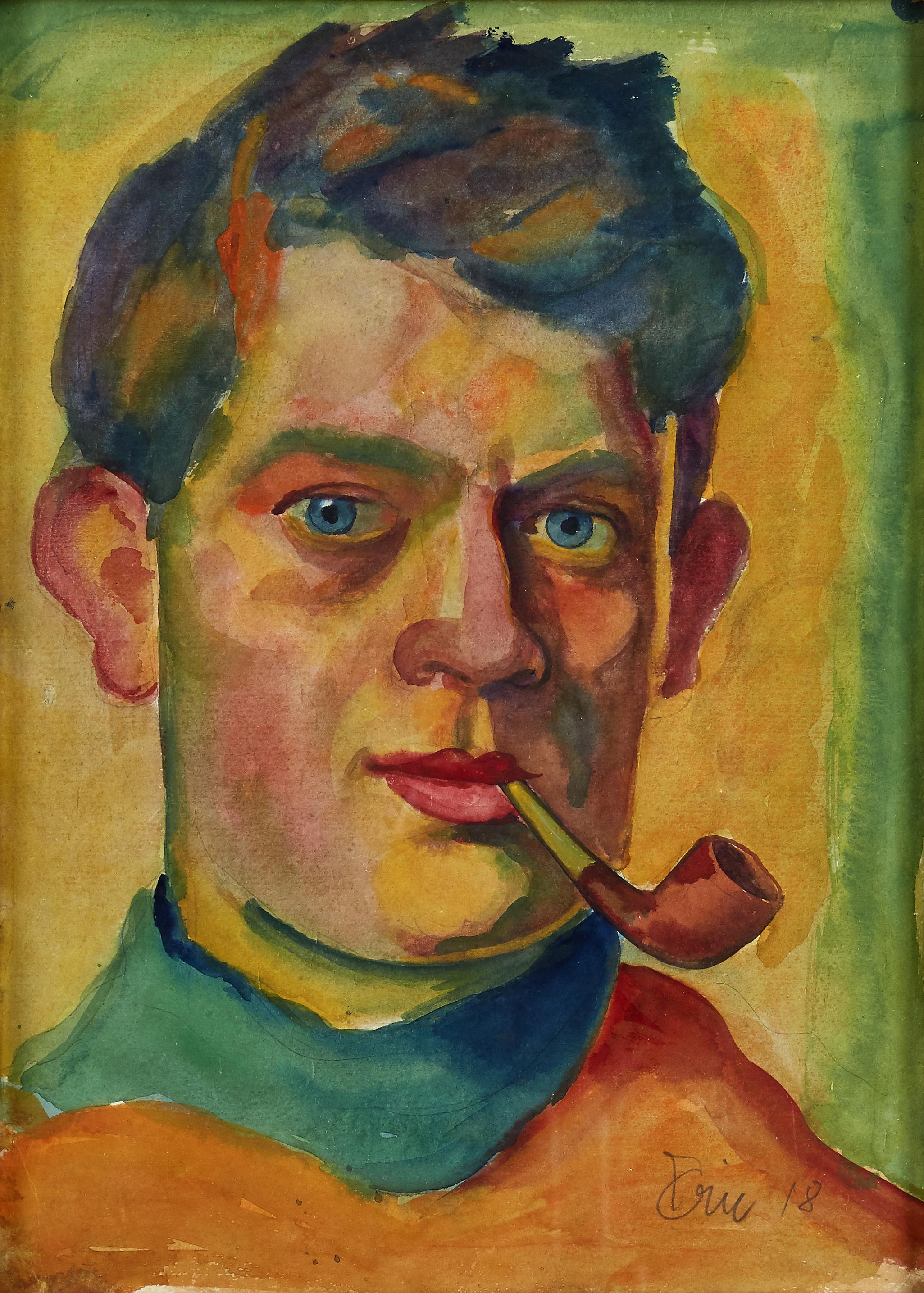 Eric Johansson, självporträtt