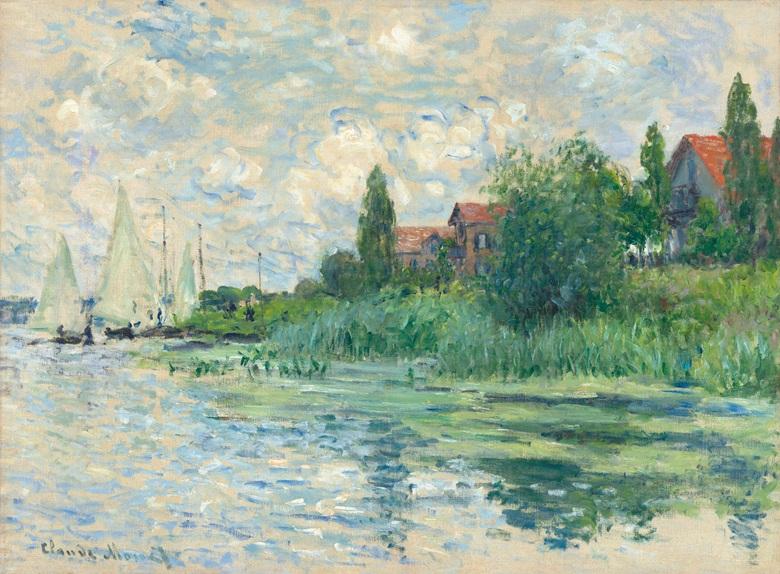 CLAUDE MONET - Les Bords de la Seine au Petit-Gennevilliers, 1874 Abb. Christie's
