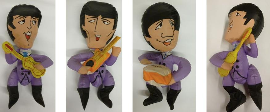 Vollständiges Set aufblasbarer Beatles-Puppen, USA 1965