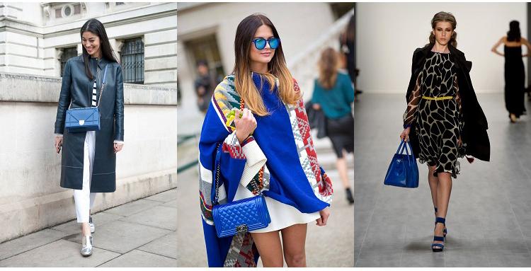 blaue handtaschen
