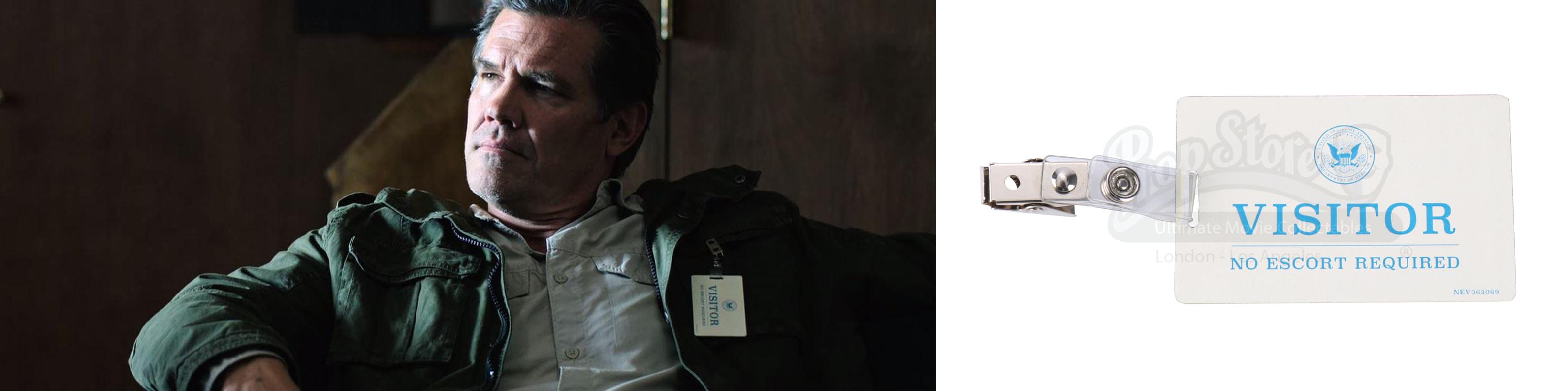 Matt Graver's (Josh Brolin) Visitor Badge. Photos: Prop Store