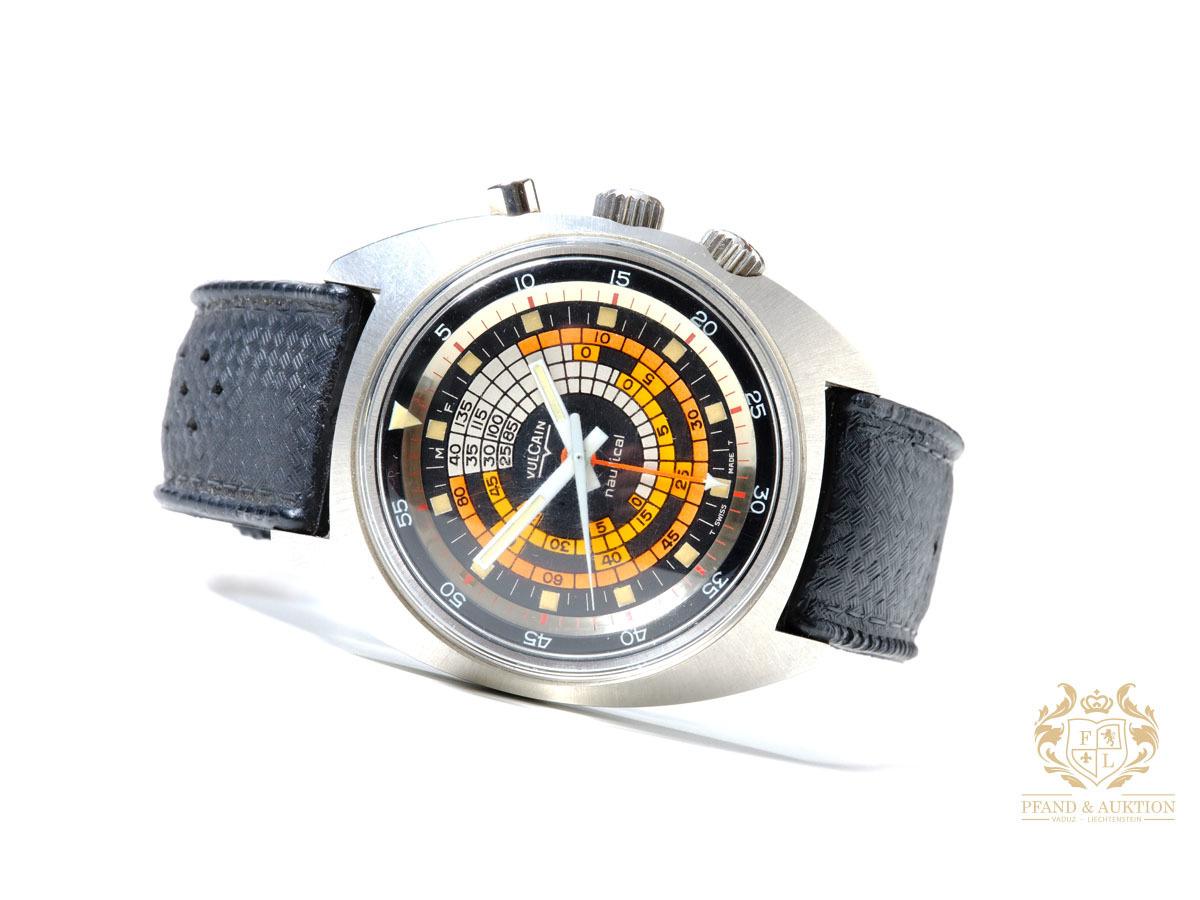 Vulcain Nautical Cricket Vintage Watch, rostfritt stål, circa 1970s