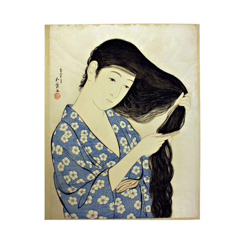 a-young-woman-combing-her-hair-duf107-goyo-hashiguchi-prints-japanese-gallery