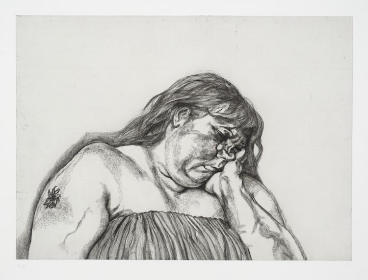 Lucian Freud Woman with an Arm Tattoo. Utrop: 177 000 SEK Phillips