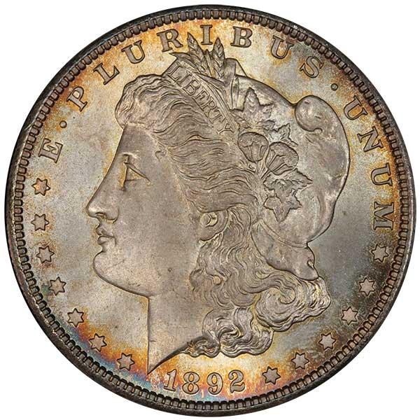 1892 U.S. Morgan dollar
