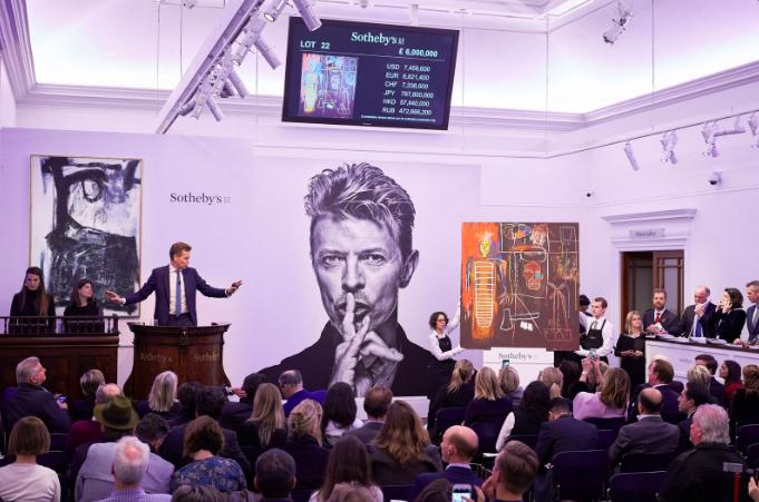 La vente de la collection Bowie chez Sotheby's a totalisé plus de 40 millions de dollars avec 100% des lots vendus Image via Sotheby's