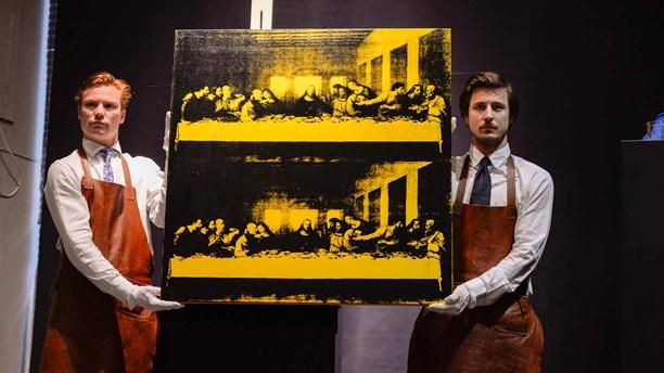 """Andy Warhol """"Last supper"""" såld på Bukowskis för 61 miljoner kronor, våren 2014."""