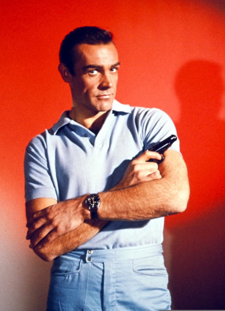 Sean Connery avec au poignet une Rolex Submariner Image via fraserhart.co.uk