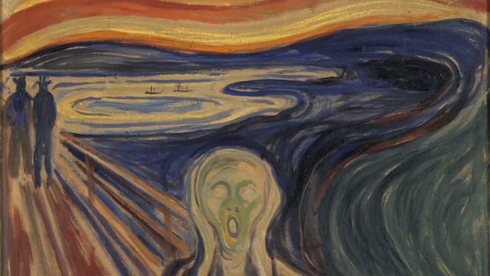 Edvard Munchs Skriet. Foto via Wikipedia.