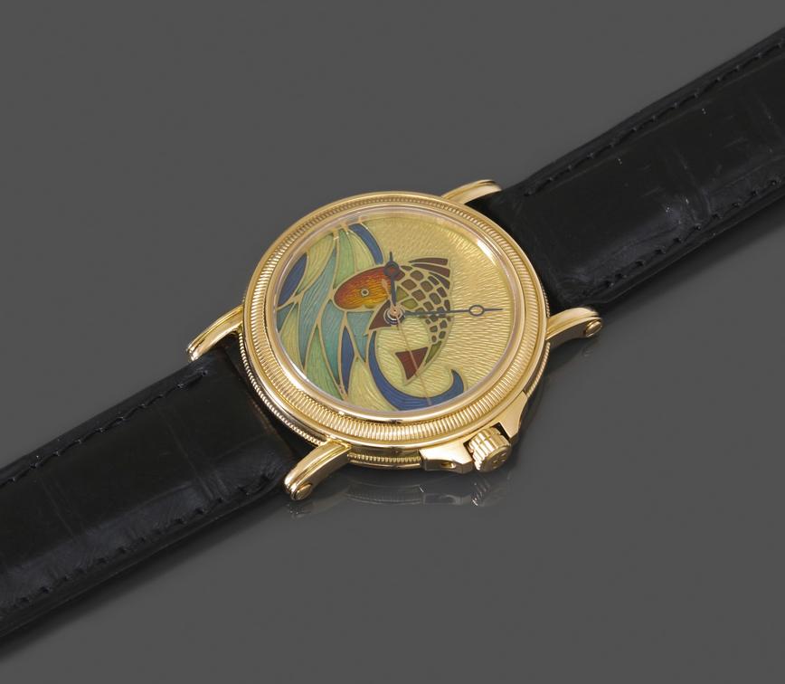 Paul Picot Une très belle et large montre bracelet automatique  Collection Atelier, modèle The Fish Pièce unique