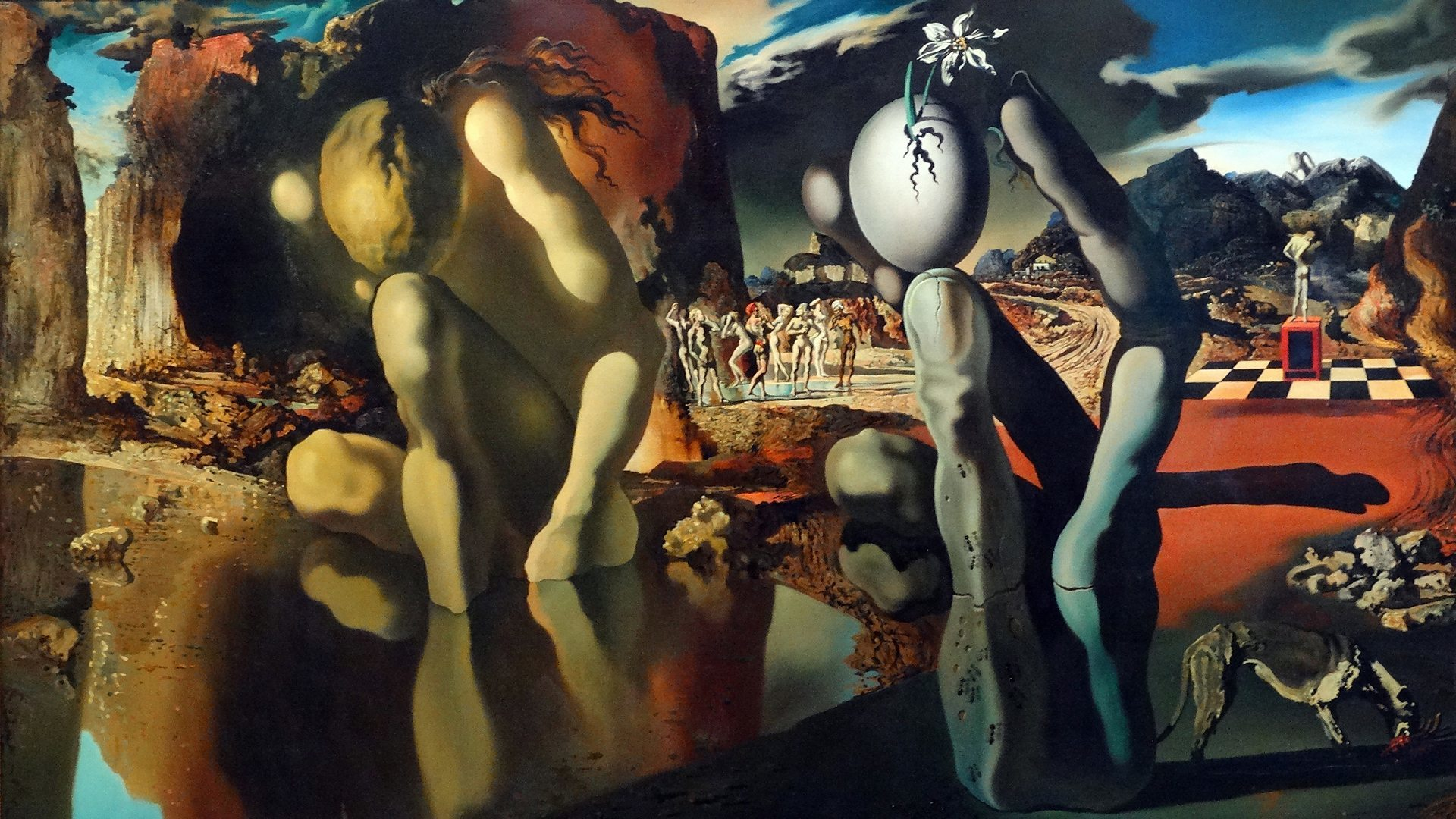 Salvador Dalí, The Metamorphosis of Narcissus, 1937. Foto: Tate Modern.