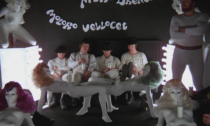 "Esculturas de ALLEN JONES en el film ""La naranja mecánica"" de Stanley Kubrick (1972)"