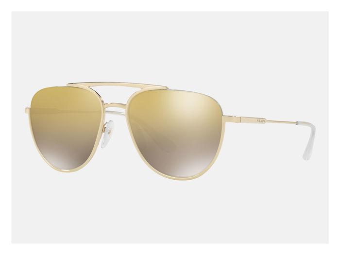PRADA Unisex-Sonnenbrille mit verspiegelten Gläsern, Italien