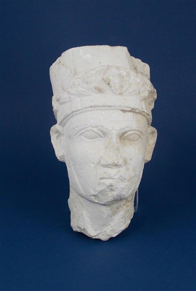 """Sculpture """"Modius et les feuilles de laurier"""", Palmyre"""