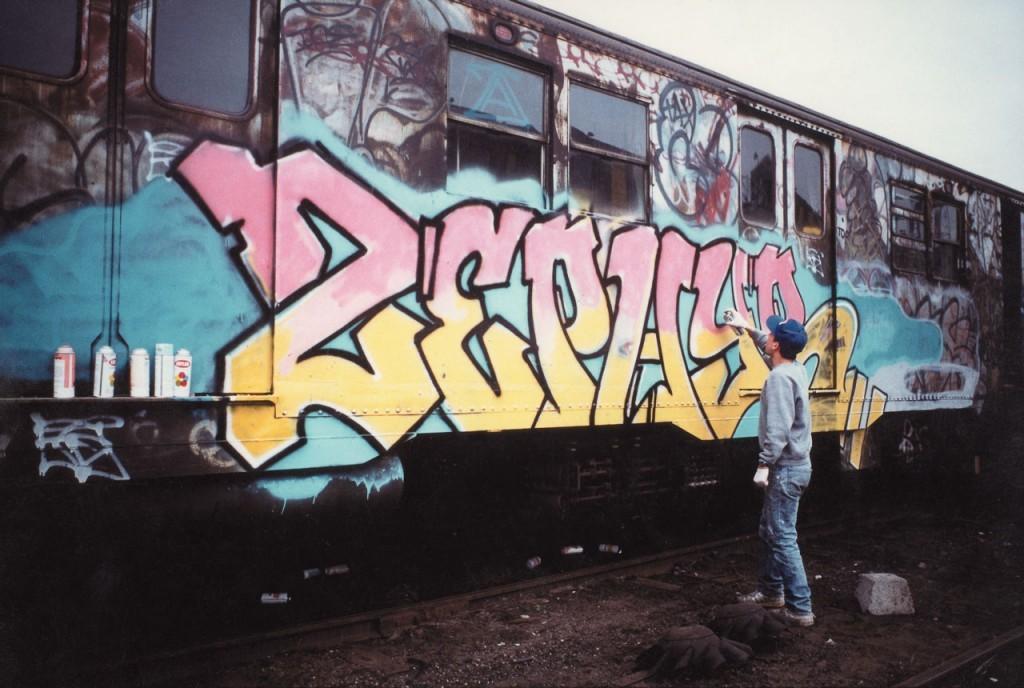 Born Andrew Witten, Zephyr began his career in 1977, painting his alias Zephyr on subway cars. Photo: fatcap