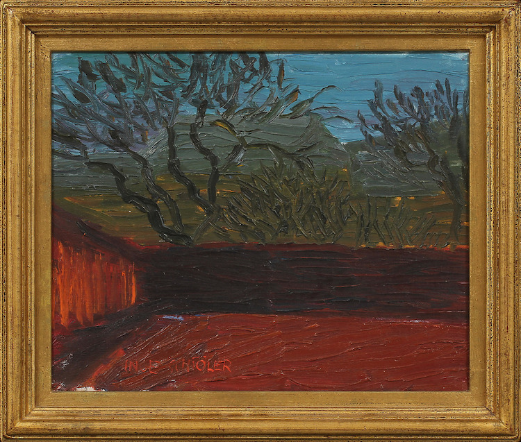"Inge Schiöler (1908-1971). ""Det röda planket"". Olja på duk.Utförd 1946. Utropspris: 20.000 SEK. Göteborgs Auktionsverk"