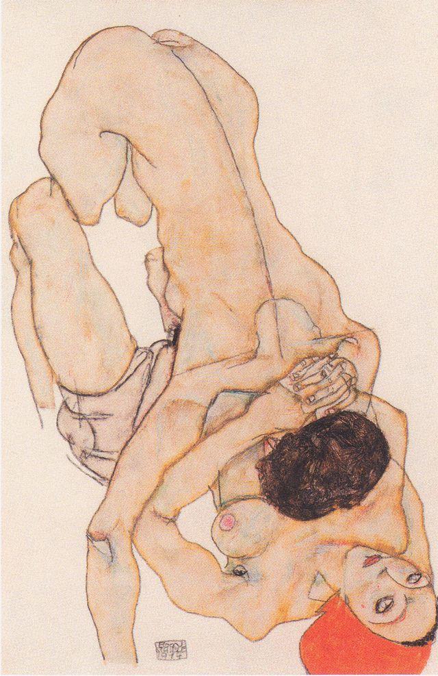 Egon Schiele: Lesbisches Liebespaar (1914)