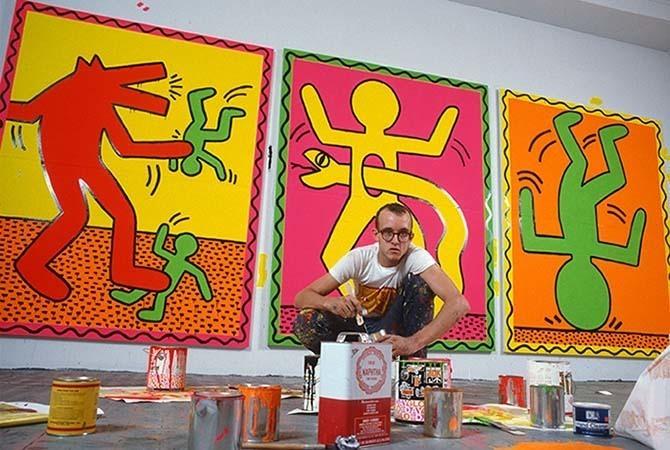 Keith Haring dans son studio