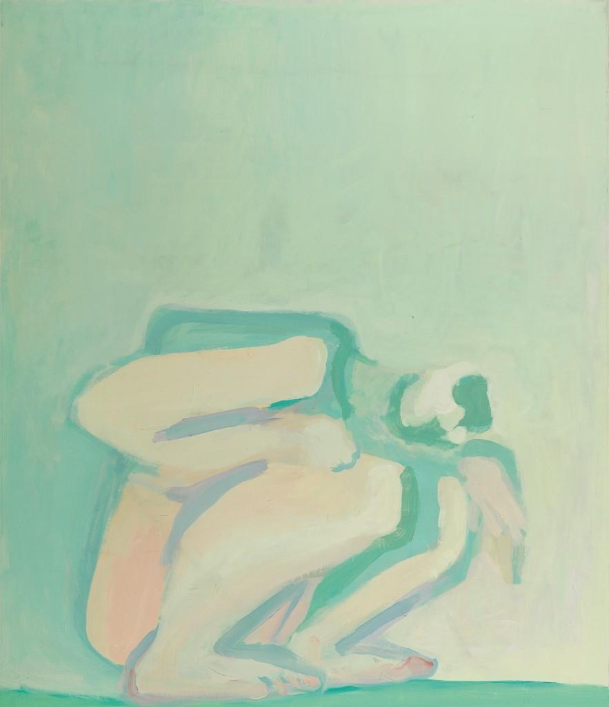"Maria Lassnig, ""Pale Crouching"", 1971-72. Foto: Dorotheum"