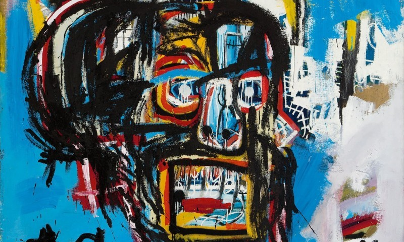 "Detail from Basquiat's ""Untitled"", 1982. Photo: Christie's."