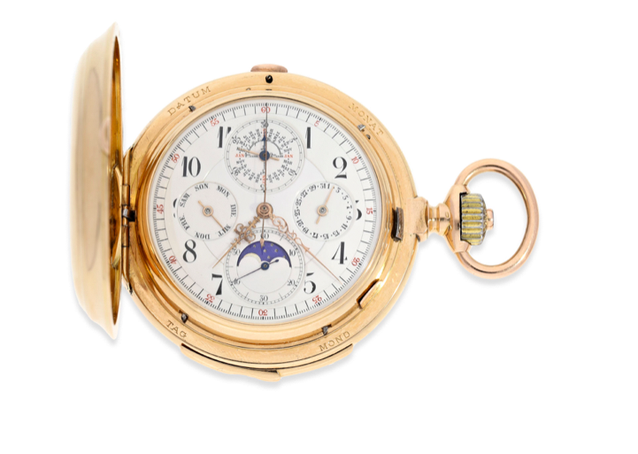Important gold hunting case watch, Audemars Piguet  ca. 1900. Photo: Cortrie